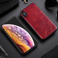Кожаный чехол премиум класса от X-Level для iPhone 10 red