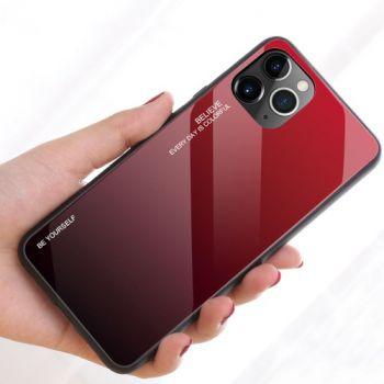 Защитный чехол Gradient Glass для iPhone 11 Pro расный