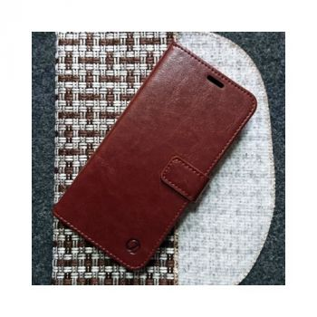 Кожаный чехол книжка Kangaroo от Jitnik для Samsung Galaxy S8 plus, коричневый