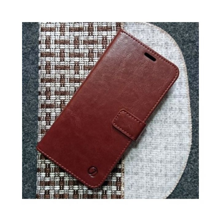 Кожаный чехол книжка Kangaroo от Jitnik для Samsung Galaxy S9 plus, коричневый