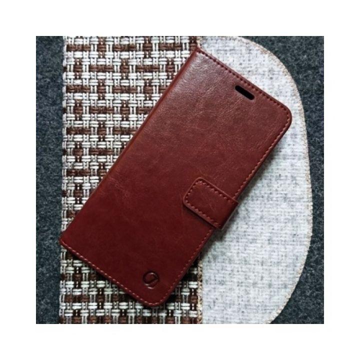 Кожаный чехол книжка Kangaroo от Jitnik для Samsung Galaxy S8, коричневый