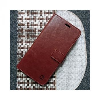 Кожаный чехол книжка Kangaroo от Jitnik для Samsung Galaxy Note 10 Plus, коричневый