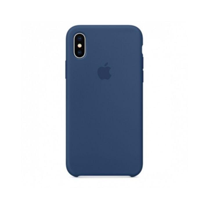 Чехол накладка Original Copy для iPhone X синий