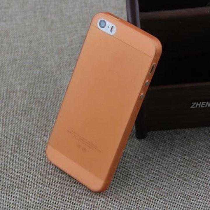 Матовый прозрачный чехол-накладка Non-ferrous для iPhone 5/5S Orange