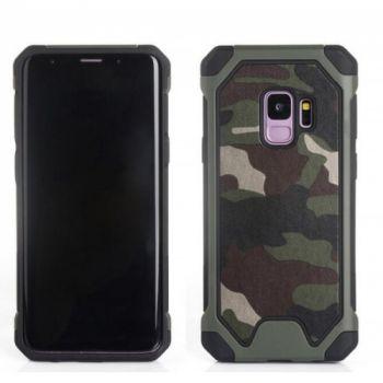 Пластиковый чехол в стиле военный камуфляж для Samsung S9
