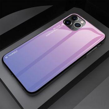 Защитный чехол Gradient Glass для iPhone 11 фиолетовый