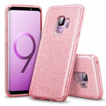 Яркий чехол накладка Be Amazing для Samsung Galaxy S9 Plus розовый