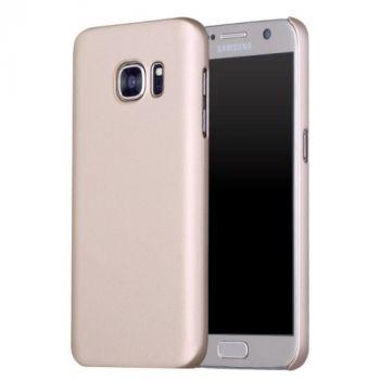 Ультратонкий золотой чехол накладка Ultraslim для Samsung Galaxy S7 edge