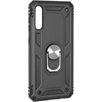 Противоударный чехол накладка Hard Defence от Honor для Samsung A50 черный