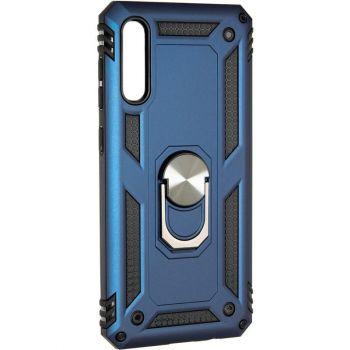 Противоударный чехол накладка Hard Defence от Honor для Samsung A50 синий