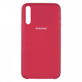 Оригинальный чехол накладка Soft Case для Samsung A50 бордо
