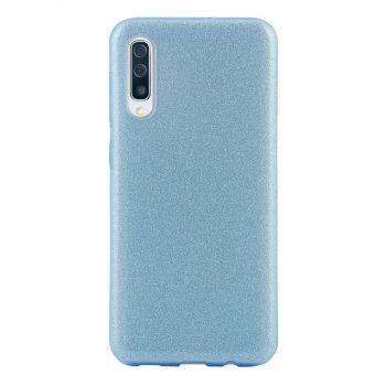 Чехол с блесками Glitter Silicon от Remax для Samsung A50 голубой