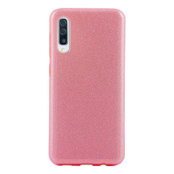 Чехол с блесками Glitter Silicon от Remax для Samsung A50 розовый