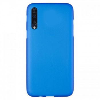 Оригинальный чехол накладка Soft Case для Samsung A50 голубой