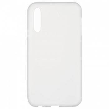 Оригинальный чехол накладка Soft Case для Samsung A50 белый