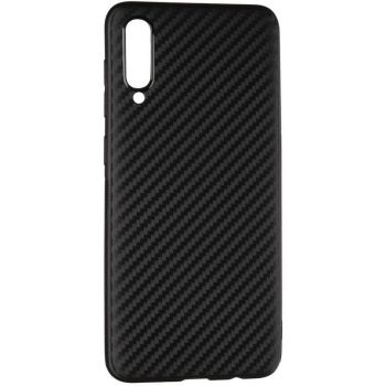 Чехол накладка Ultra Carbon от AirCase для Samsung A50 черный