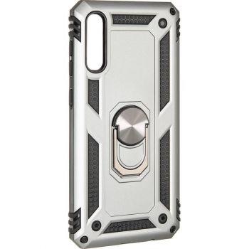 Противоударный чехол накладка Hard Defence от Honor для Samsung A50 серый