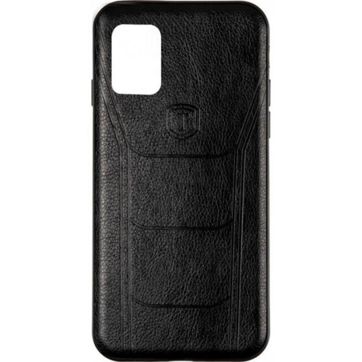 Накладка под кожу Leather Prime от Gelius для Samsung A51 черная