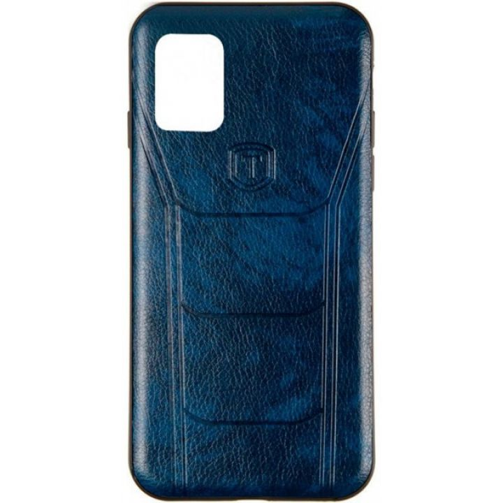 Накладка под кожу Leather Prime от Gelius для Samsung A51 синяя