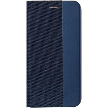 Кожаная книжка Canvas от Gelius для Samsung A51 синяя