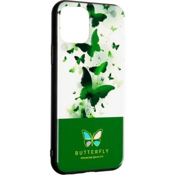 Чехол накладка с бабочками Butterfly от Flovemу для Samsung A51 зеленый