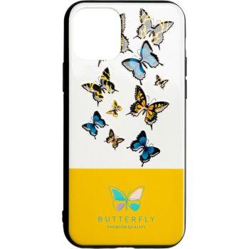 Чехол накладка с бабочками Butterfly от Flovemу для Samsung A51 желтый