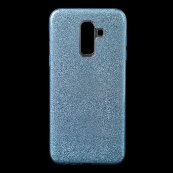 Чехол с блесками Glitter Silicon от Remax для Samsung J810 (J8-2018) синий