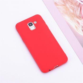 Оригинальная силиконовая накладка для Samsung J600 (J6-2018) красный