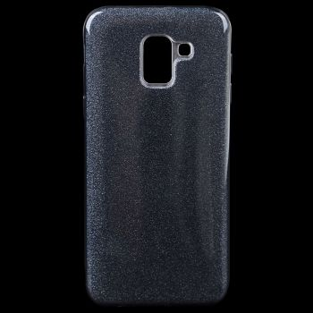Чехол с блесками Glitter Silicon от Remax для Samsung J610 (J6 Plus) черный