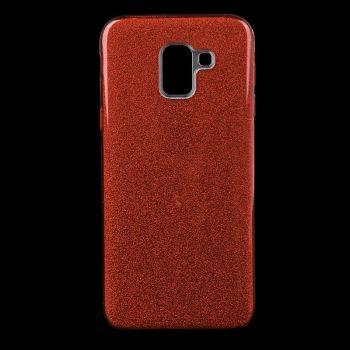 Чехол с блесками Glitter Silicon от Remax для Samsung J610 (J6 Plus) красный