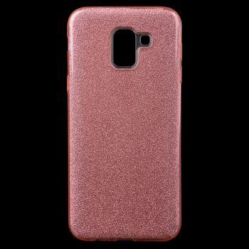 Чехол с блесками Glitter Silicon от Remax для Samsung J600 (J6-2018) розовый