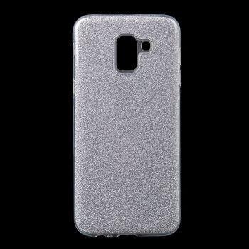 Чехол с блесками Glitter Silicon от Remax для Samsung J600 (J6-2018) серебро