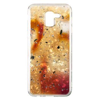 Чехол с жидкостью и блестками Light Stone от Baseus для Samsung J610 (J6 Plus) золотой