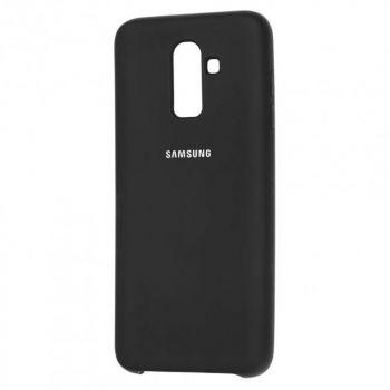 Оригинальный чехол накладка Soft Case для Samsung J810 (J8-2018) черный