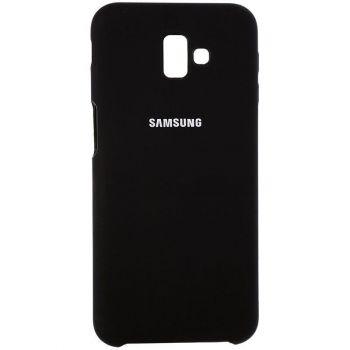 Оригинальный чехол накладка Soft Case для Samsung J600 (J6-2018) черный