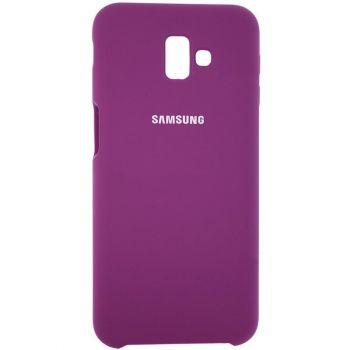 Оригинальный чехол накладка Soft Case для Samsung J610 (J6 Plus) фиолетовый