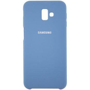 Оригинальный чехол накладка Soft Case для Samsung J810 (J8-2018) темно-синий
