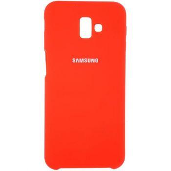 Оригинальный чехол накладка Soft Case для Samsung J810 (J8-2018) красный