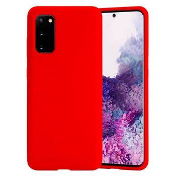 Чехол накладка Candy для Samsung Galaxy S20 красный