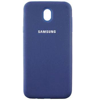 Оригинальный чехол накладка Soft Case для Samsung J730 (J7-2017) темно-синий