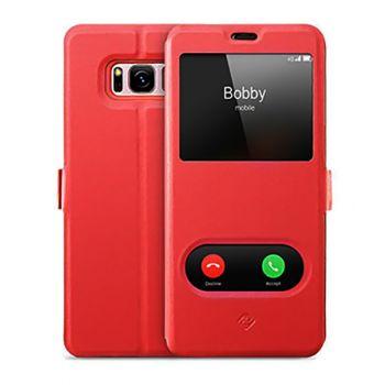 Красный чехол книжка Illuminate для Samsung Galaxy S8 Plus