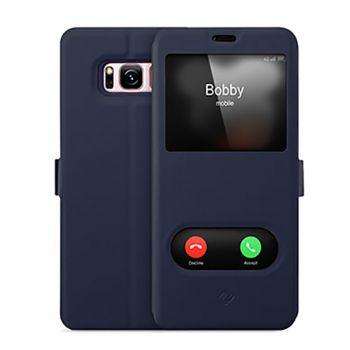 Синий чехол книжка Illuminate для Samsung Galaxy S8 Plus