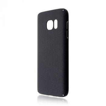 Тонкий пластиковый чехол Soft-touch для Samsung Galaxy S7 edge, черный