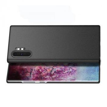Ультратонкий чехол накладка Carbon Black для Samsung Note 10 Plus
