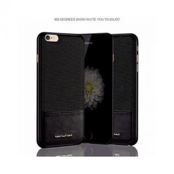 Комбинированный чехол накладка из кожи Perfect для iPhone 6 Plus