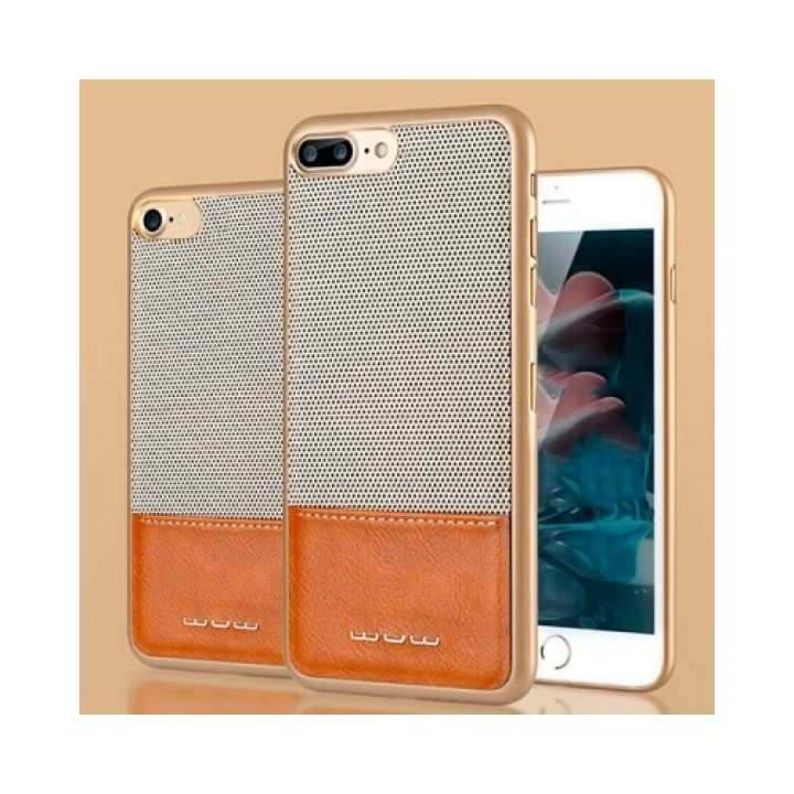 Perfect чехол накладка из натуральной кожи для iPhone 6/6s gold