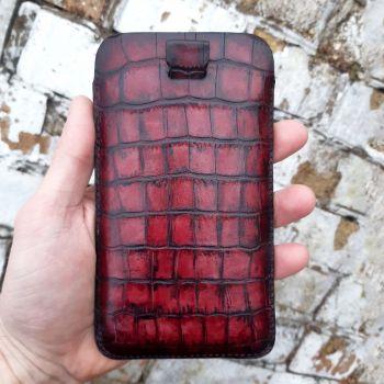 Красный карман ручной работы из кожи от Jitnik для Xiaomi Redmi Note 9 Pro
